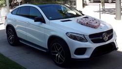 Mercedes GLE coupé blanc pack AMG